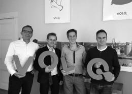 Onno de Vries, Ron van Vliet, Wout van der Heijden en Ruud de Graaf van Volq